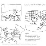 Picture book activity Bed Sequencing Game