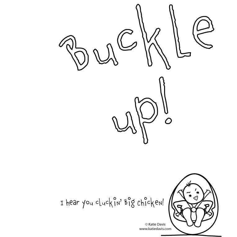 Car Seat Coloring Pages