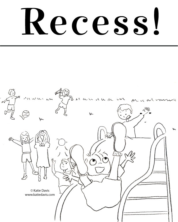 recess cartoon coloring pages - photo#4