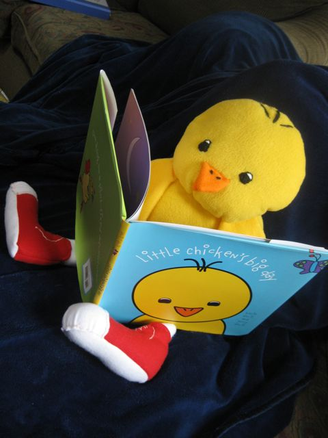LIttle Chicken Reads a Book