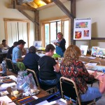 Painting and learning at Highlights Foundation