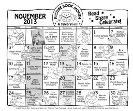 Picture Book Month Calendar 2013 BW