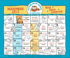 Picture Book Month 2013 Color Calendar
