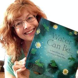 Laura Purdie Salas with book