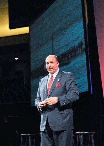 Dave Sanderson speaking