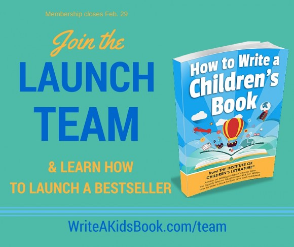 How to Write a Children's Book | Launch Team Announcment
